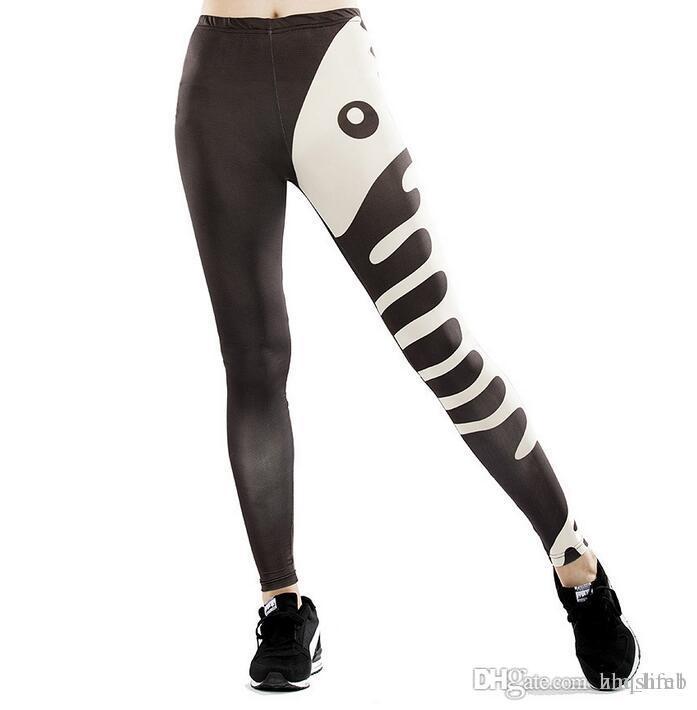 033f4b827 Pantalón de yoga para mujer Pantalones Impresión digital Impresión en  blanco y negro Pantimedias dama Cintura alta Actividad de baile Leggings ...