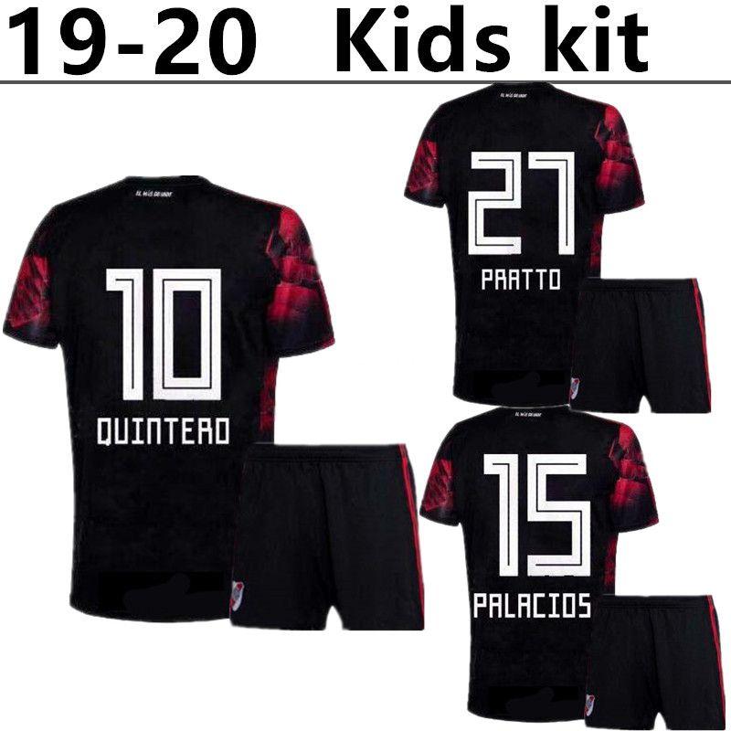 c5eb2e9c3 Compre 19 20 River Plate Kids Kit Soccer Jersey 2020 River Away   10  QUINTERO Camisetas De Fútbol Para Niños BORRE PRRTTO Uniforme De Fútbol  Para Niños ...