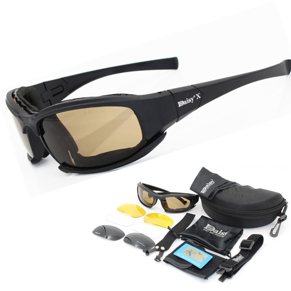 638a16677f76 Polarized Army Sunglasses Goggles Male 4 Lens Kit For Men War Game ...