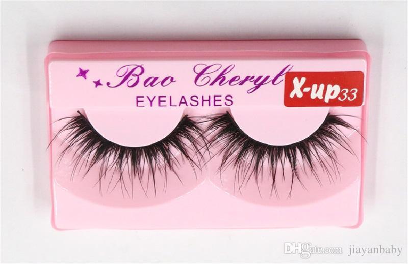 100pair Bao Cheryl Supernatural Lifelike Handmade False Eyelash 3D Strip Lashes Thick Fake Faux Eyelashes Makeup Beauty Supplies