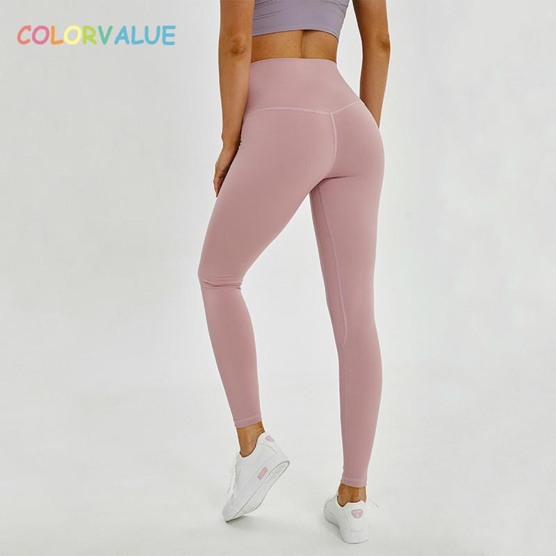 d71c7524a15b4 value Squatproof Hip Up Yoga Fitness Leggings Women V Shape Solid Sport Gym  Tights Top Quality Nylon Workout Pants Xs Xl C19040301 From Linmei0006, ...