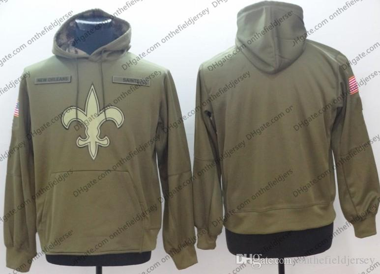 2019 Mens New Orleans Sweatshirt Saints Hoodie 2018 Olive Salute To Service  Sideline Therma Performance Pullover Hoodie S 3XL From Onthefieldjersey 4ed43b8f2
