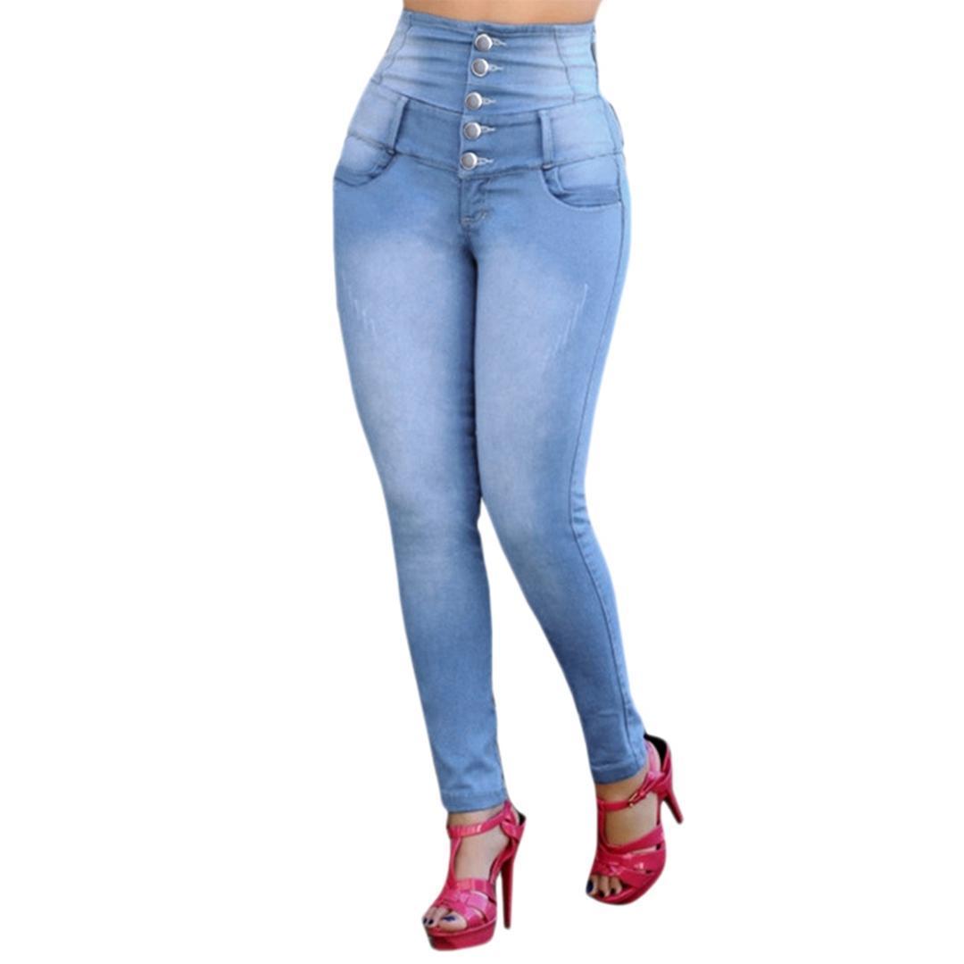 1f6c1e42f16dc Satın Al Düğme Yüksek Bel Streç Kot Ince Seksi Kot Uzun Denim Kalem Pantolon  Yeni Yeni Kadın Kadın Bayan Pantolon, $54.54 | DHgate.Com'da
