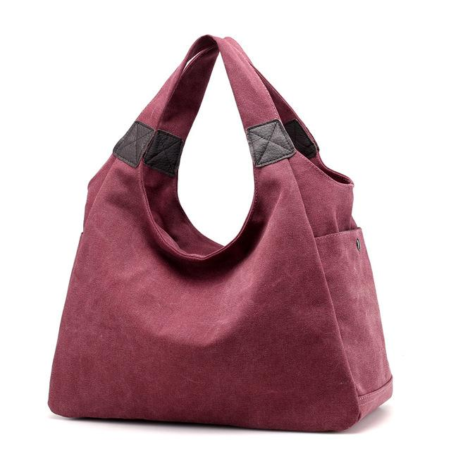 Canvas Women Bag Women Handbags Fashion Design Ladies Tote Bag Female Solid Big Shoulder Bags Travel Bag Bolsos Mujer