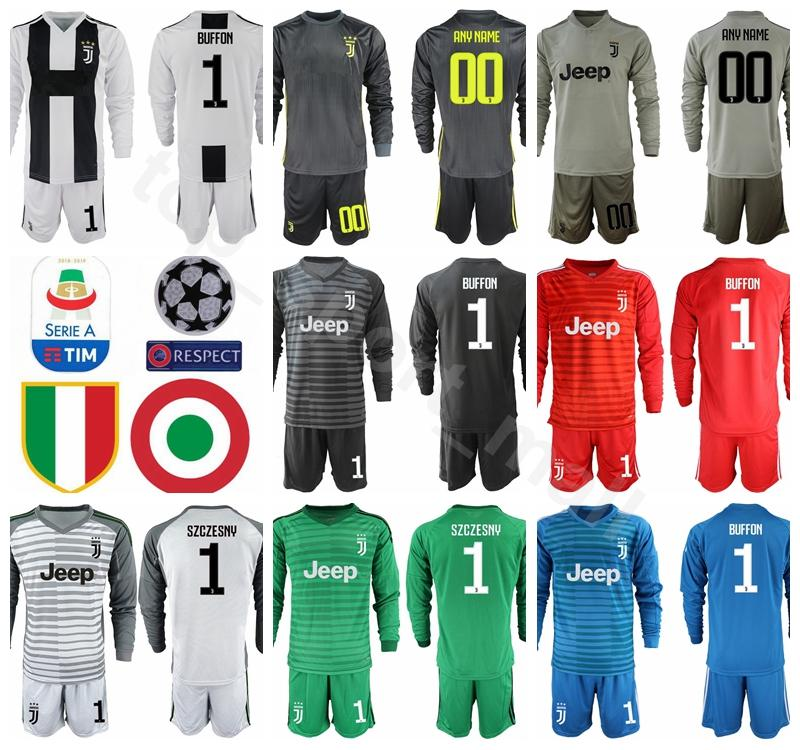 669b48946 2019 Juventus Long Sleeve GK Goalkeeper 1 Gianluigi Buffon Jersey Men Soccer  1 Wojciech Szczesny Football Shirt Kits Uniform Custom Name Number From ...