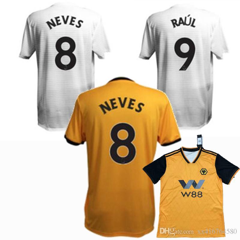 9afe75e0606 2019 2018 2019 2020 Wolverhampton Wanderers FC Soccer Jersey 18 19 ...