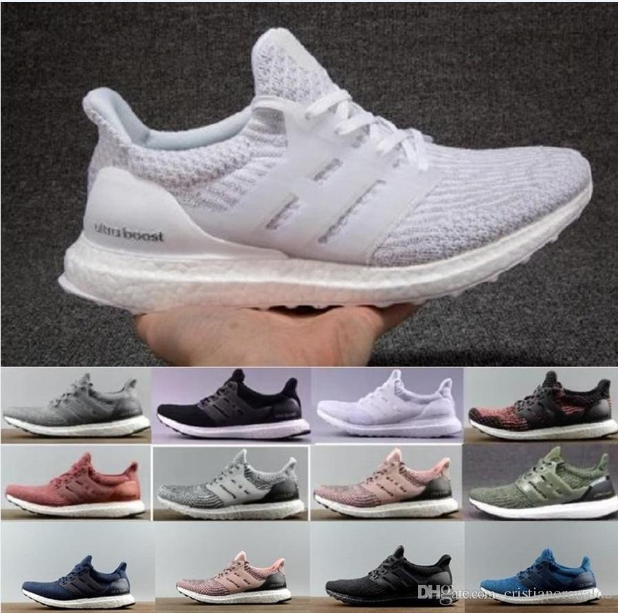 75b98f94e 2018 Cheap Ultra Boost 4.0 Running Shoes Triple White Black Grey Men 3.0  Blue Oreo Casual Shoes Ultra Boosts Sneakers 40 45 Cool Shoes Naot Shoes  From ...