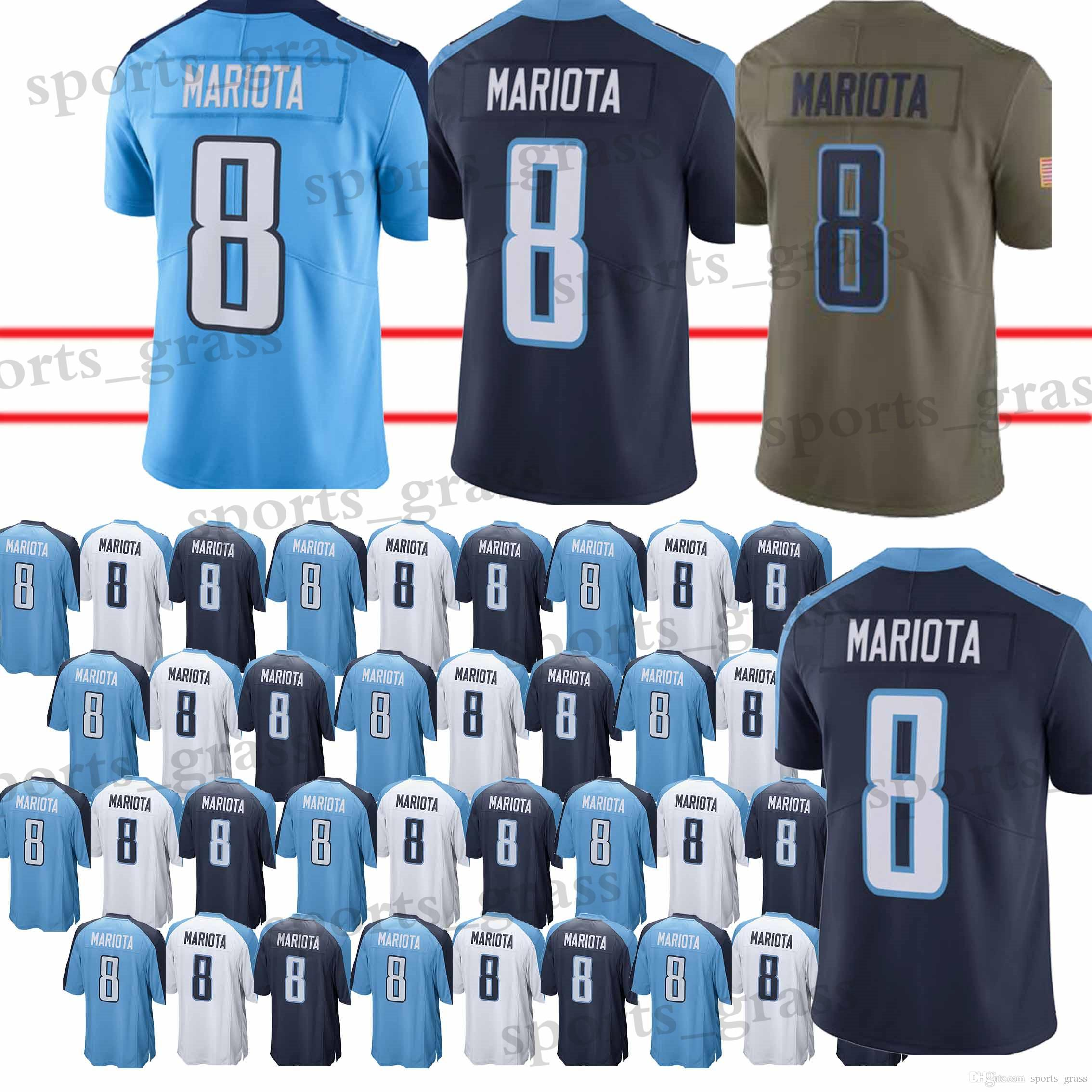 0e105b68ea1 2019 High Quality Tennessee Titan Jerseys 8 Marcus Mariota Jersey 100% Stitched  Shirt Men 2018 New From Sports grass