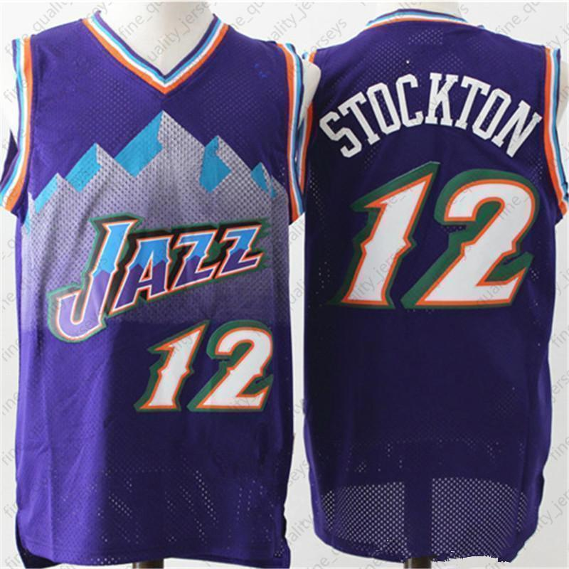 100% authentic 2bfdf d533d 12 John +Stockton Utah Jerseys 32 Karl +Malone Basketball + Donovan 45  Mitchell Rubio 3 Ricky 26 Korver Retro Kids Mens In Stock