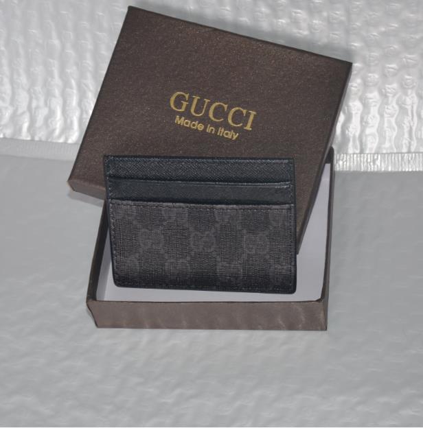 4689890f58be New Brand Men's Genuine Leather Knitting Business Card Holders Men ...