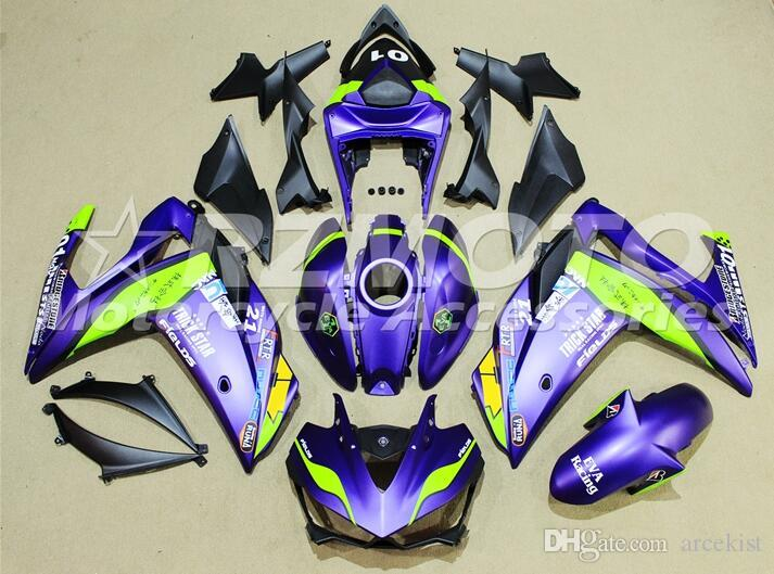 Hot sales New Injection Mold ABS Plastic Motorcycle Fairing Kit For YAMAHA R3 R25 2014 2015 2016 14 15 16 Cowlings Bodywork set purple