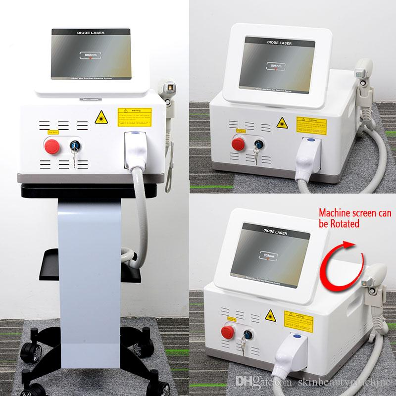 Painless!! q switch diode laser hair removal machine with 808nm wavelength high power 15*15 spot size