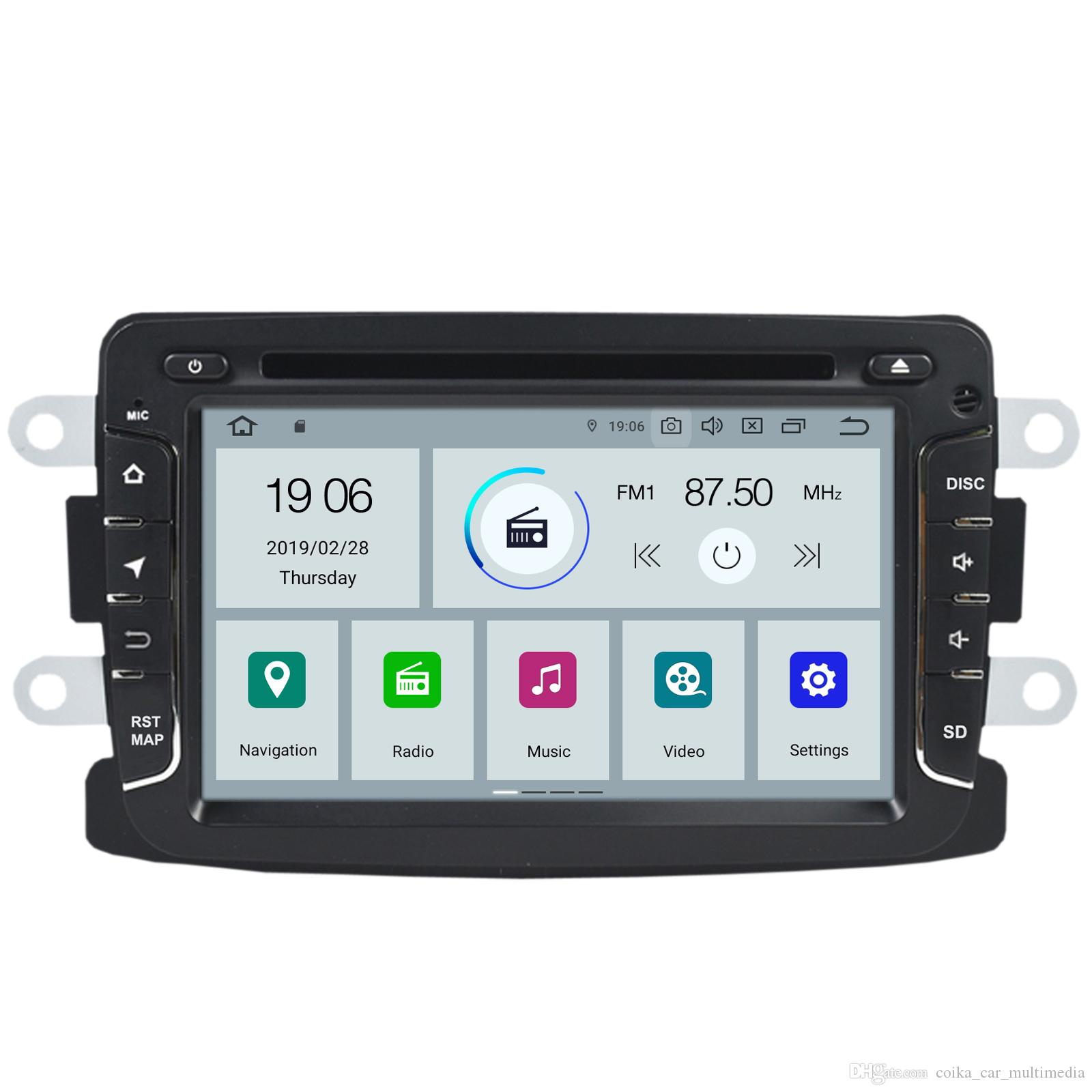 COIKA Android 9 0 System Car DVD Head Unit For Renault Duster Logan Lada  XRAY Symbol Dacia Dokker OBD DVR 2 16G RAM GPS Navi BT