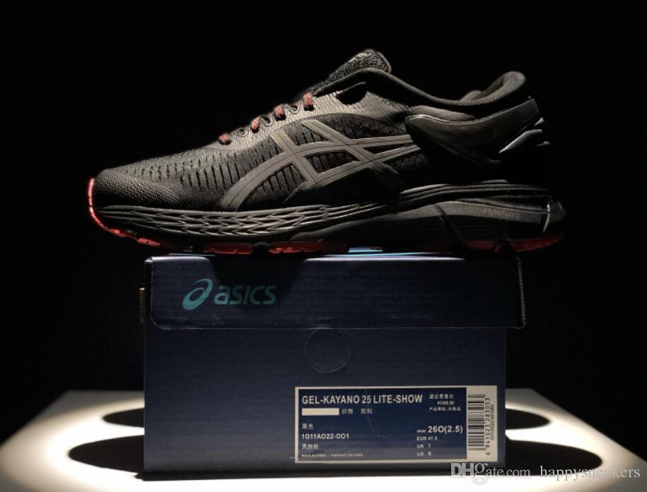 5b87d1f982 Compre Top Quality GEL KAYANO 25 Homem De Longa Distância Tênis Com  FlyteFoam Propel FlyteFoam Lyte Tecnologia Athletic Sneakers De  Happysneakers