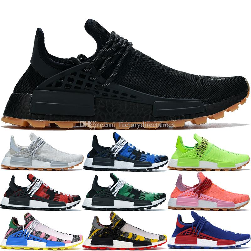 New Best NMD Human Race Pharrell Williams BBC Infinite Species Know Soul  SUN CALM Solar Pack HU Trail men women designer running shoes