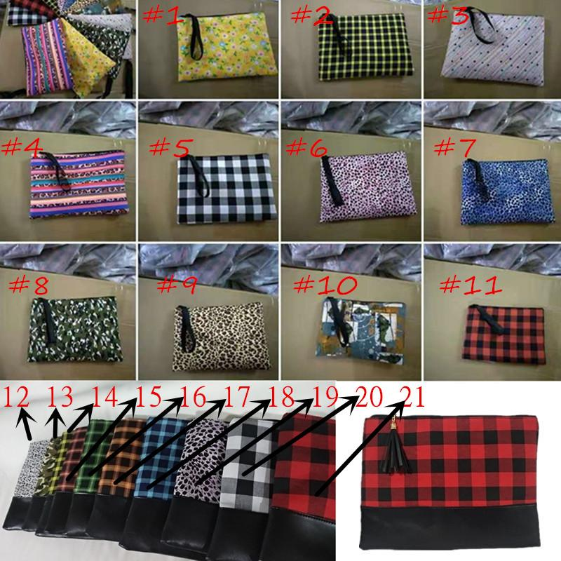 Women Floral Wallet Purses Leopard Plaid Flowers Print with Lanyard Handbags Zipper Tote PU Leather Patchwork Phone Pouch Bags Cases D11601