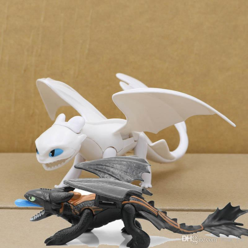 How To Train Your Dragon 3 Action Figures Toys Toothless Skull Gronckle Deadly Nadder Night Fury Toothless Dragon Figures kids toys C33