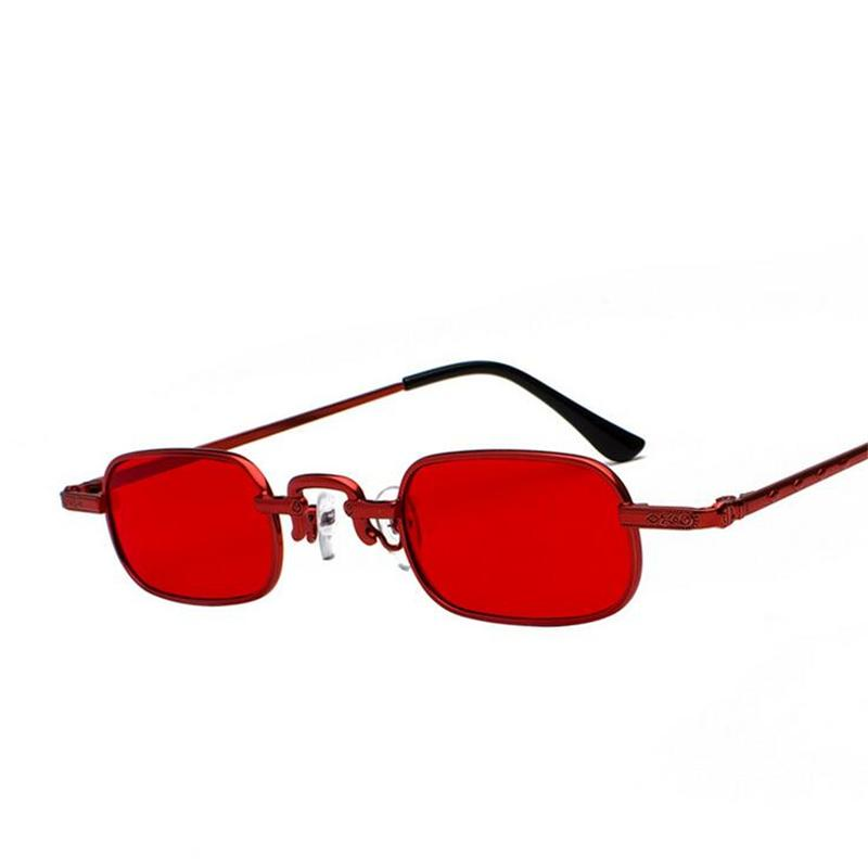 a088213c059e Red Frame Square Women Sunglasses Men Small Frame Metal Steampunk Vintage  Sun Glasses For Women Oculos De Sol Feminino Cheap Sunglasses Mens  Sunglasses From ...