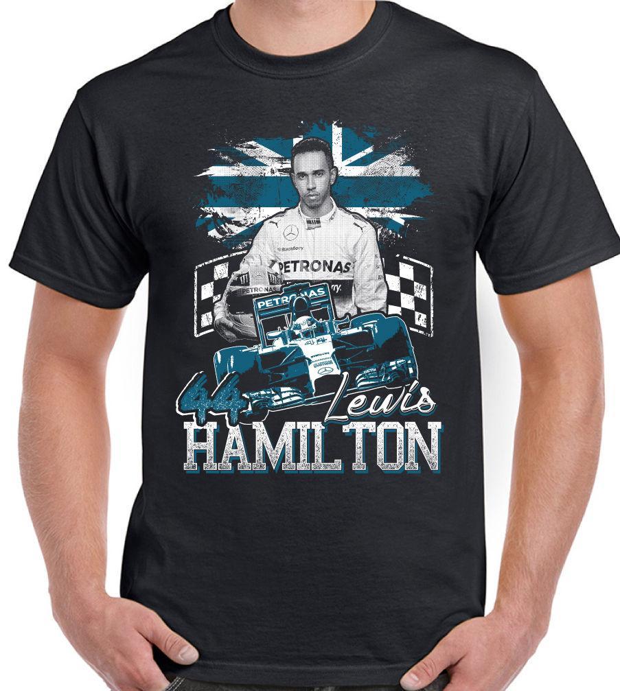 best service cba42 eb932 Herren Lewis Hamilton Tribut Fächer T-Shirt Design 2