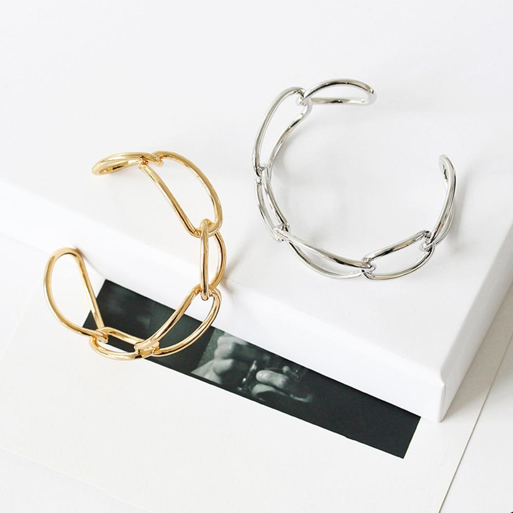 be3802b1c16 Thick Chain Hollow Cross Simple Simple Open Cuff Bracelet Open Bracelets  For Women Jewelry Bangle Silver Bangles For Men Ladies Gold Bangles From  Boiline, ...