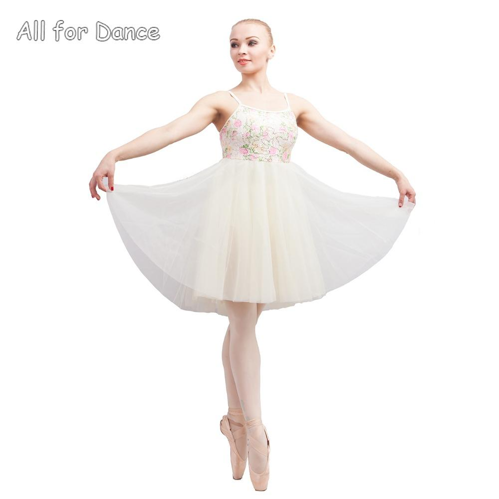 Sequin Lace With Ivory Spandex Bodice Girl Ballet Dance Skirt Contemporary Dacne Wear Lyrical Dance Dress