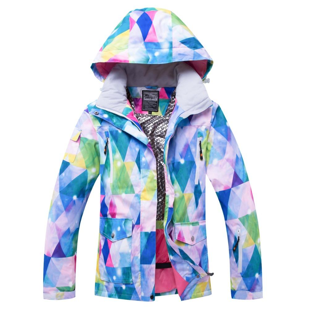 ba676702b9 Brand New Women Ski Jacket Colored Triangle Waterproof Windproof ...