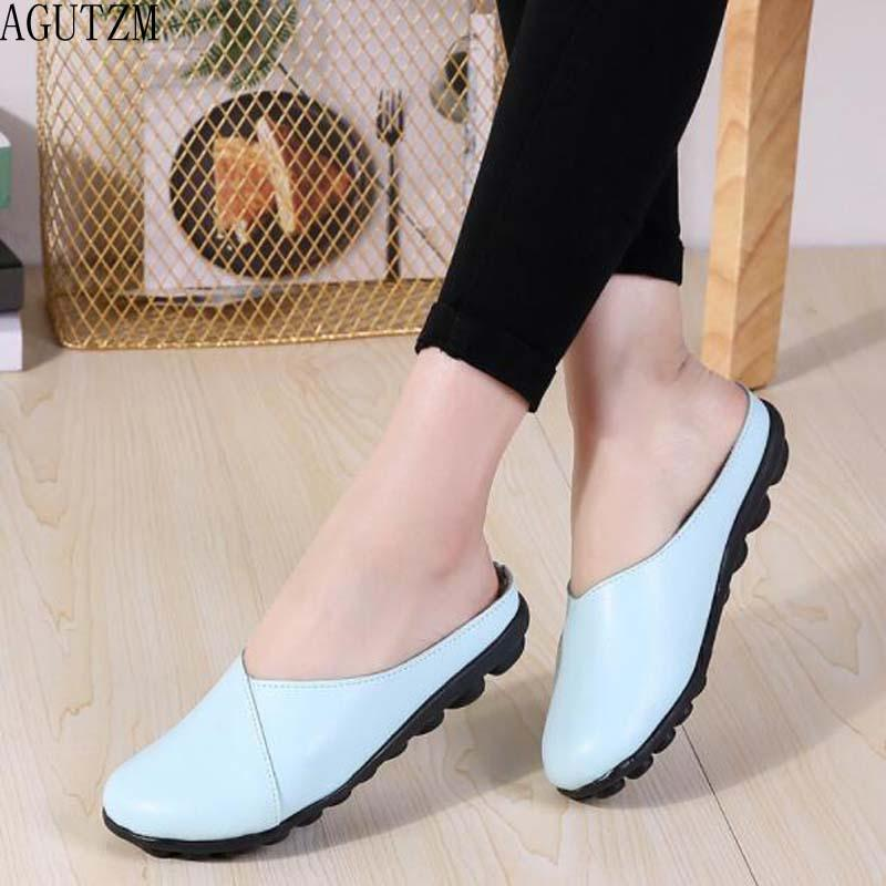 787da642778b AGUTZM 2019 Summer Women Ballet Flats Cow Leather Flat Sandals Shoes Ballet  Slippers Casual Shoes W24 Suede Shoes Shoe Sale From Ballballu