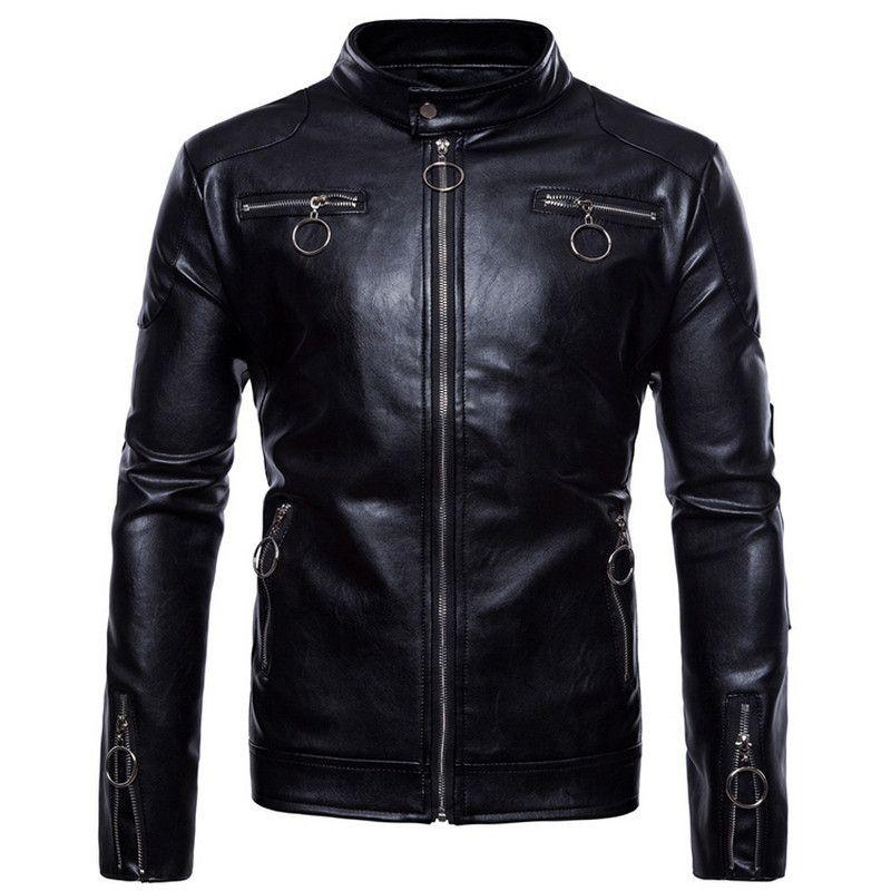 the best attitude f9e29 8b994 Giacche invernali in pelle da uomo moda finta giacca coreana elegante slim  fit cappotti da uomo in pelle scamosciata del cranio per gli uomini, m-5xl
