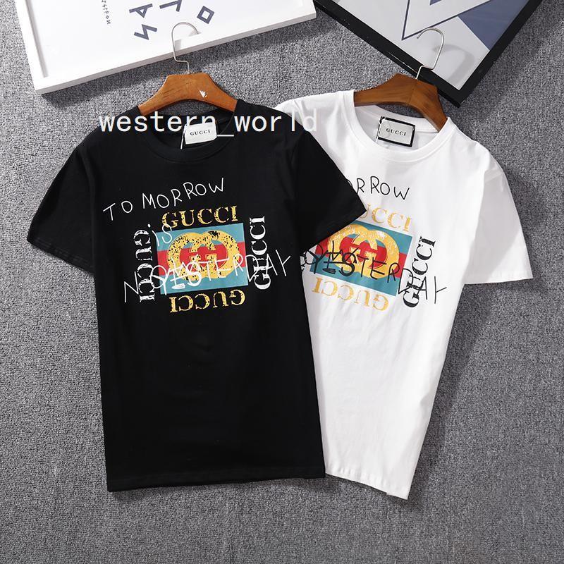 bde1771ffb60 100 Cotton More Color 130 Mens Men Womens Women Summer Logo Print ...