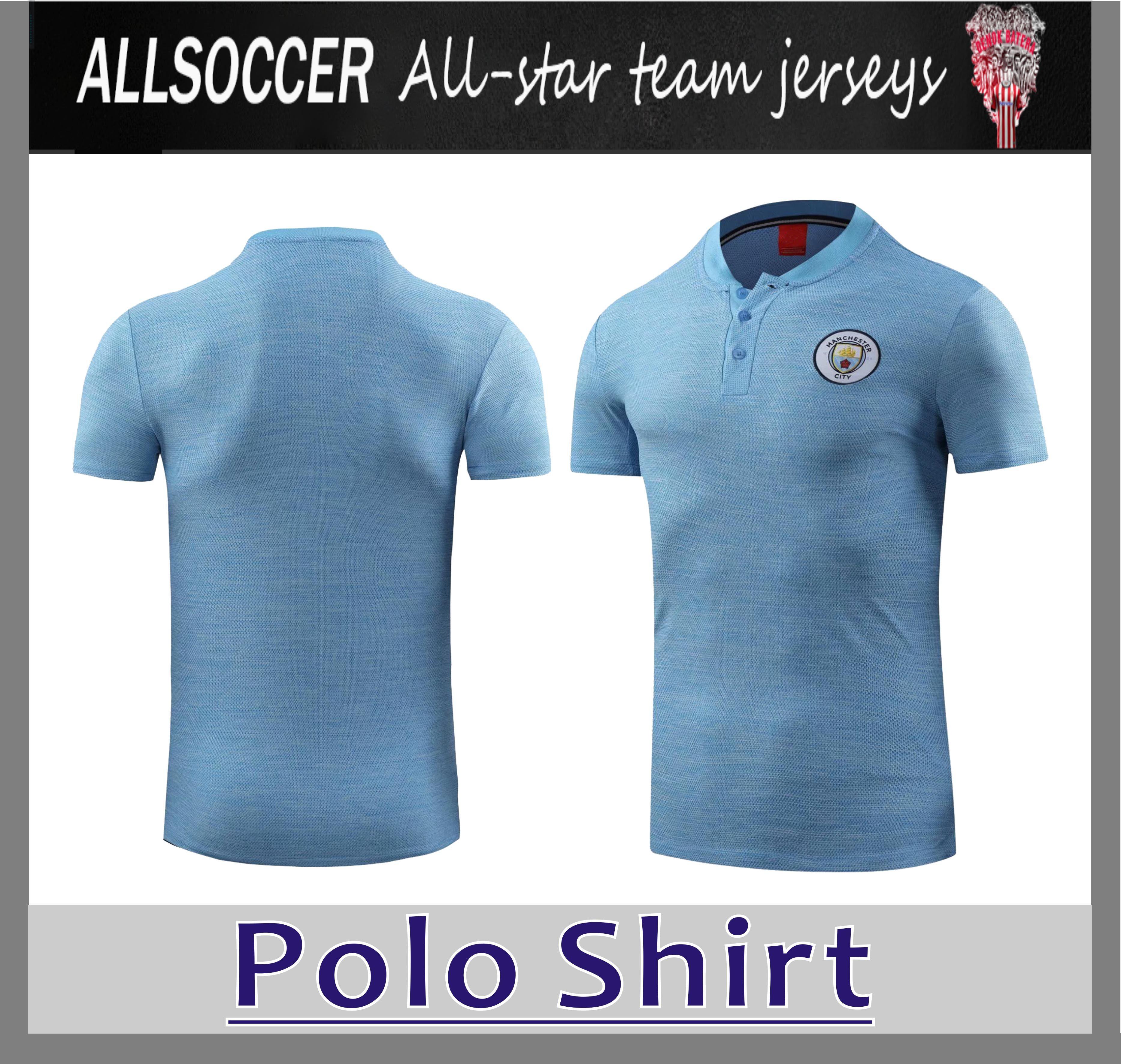 fc7d49c6 2019 2019 MAN CITY Blue Polo Shirt 18/19 KUNAGUERO DE BRUYNE Soccer Polo  Football Uniforms Sport Shirt On SaleAthletic From Allsoccer, $18.28 |  DHgate.Com