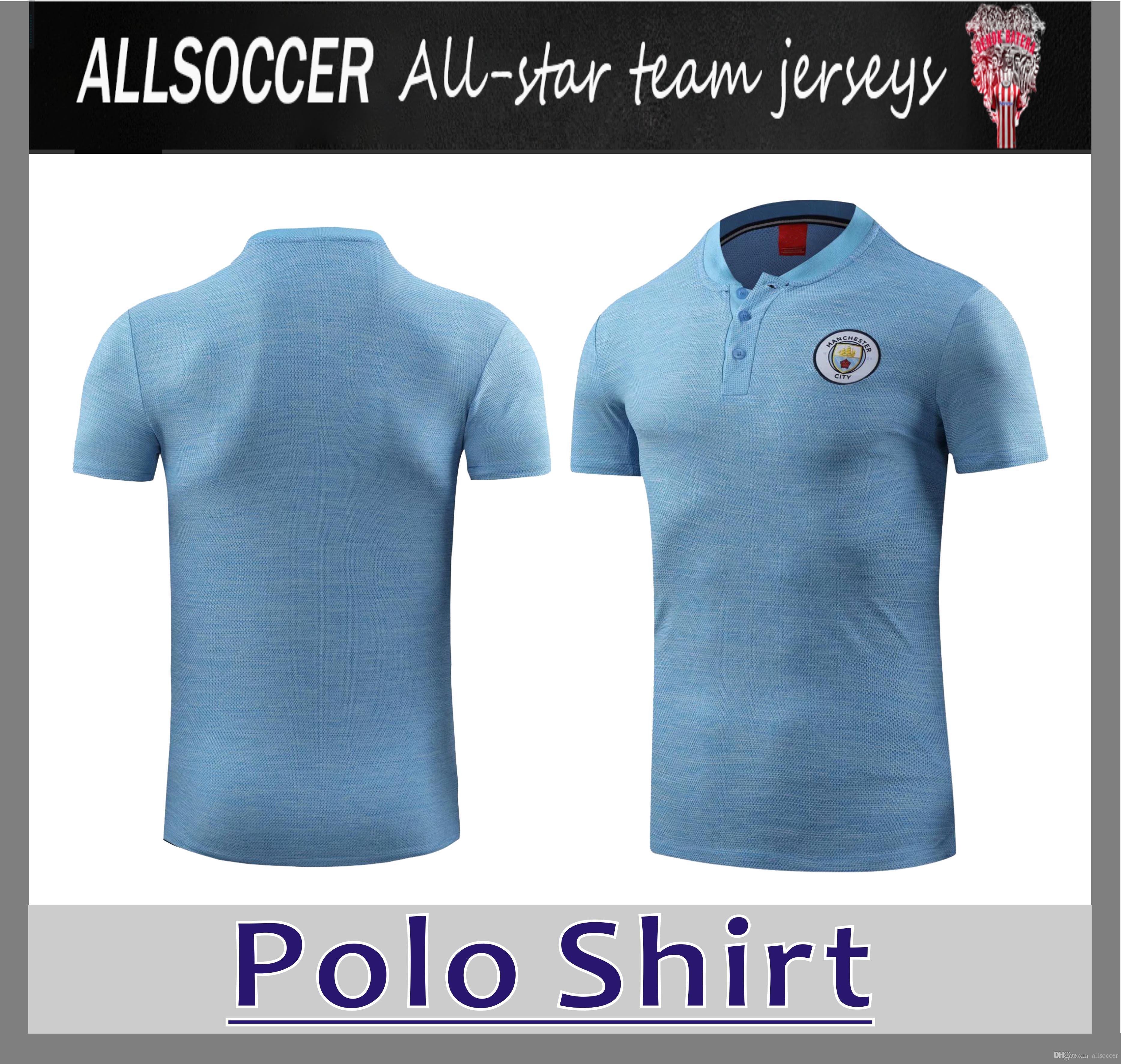 303b96530 2019 MAN CITY Polo Azul 18 19 KUNAGUERO DE BRUYNE Fútbol Polo Uniformes  Fútbol Camiseta Deportiva En VentaAtlético Por Allsoccer