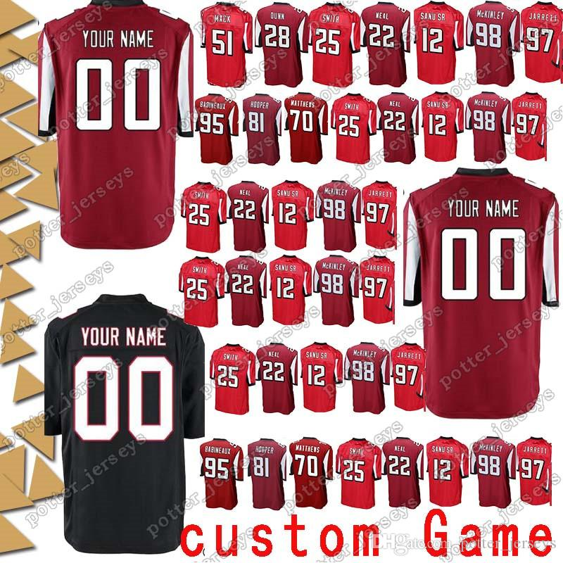 new product 4b056 e3863 Atlanta 26 Tevin Coleman Falcon Jerseys 45 Deion Jones 12 Mohamed Sanu 18  Taylor Gabriel 17 Devin Hester 84 Roddy White custom Game Jersey