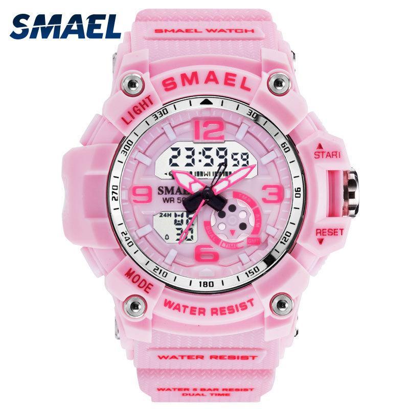 7d8bae248652 Satın Al SMAEL Kadın Saatler Spor Açık LED Saatler Dijital Saatler Kadın  Ordu Saatler Askeri Büyük Arama 1808 Kadın Izle Su Geçirmez