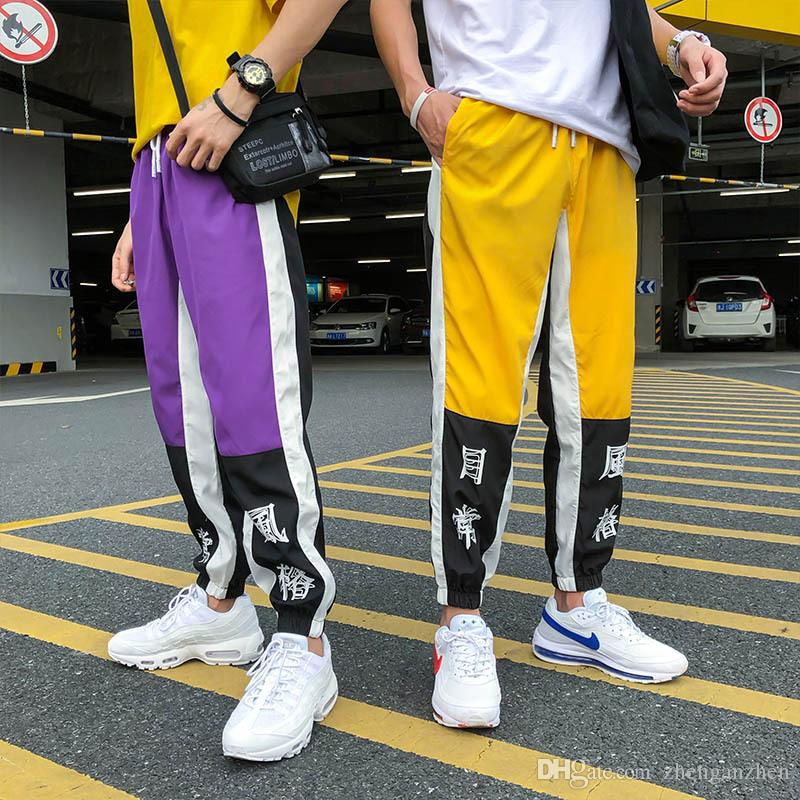 Skateboarding Pants Roller Skates, Skateboards & Scooters 2019 Summer Hip Hop Pants Mens New Fashion Chinese Character Printing Harem Pants Streetwear Men Casual Joggers Trousers