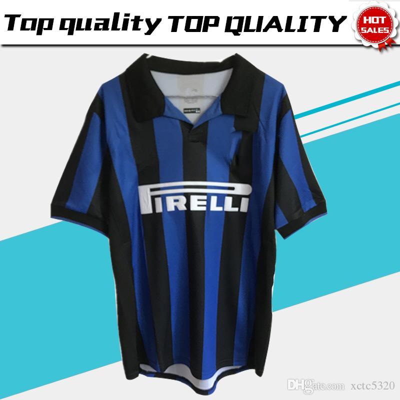 de30a6206 2019 1998 Retro Inter Blue Soccer Jerseys Inter Football Team Soccer Shirts  Retro Version 1998 Short Sleeve Jersey Soccer Uniform On Sale From  Xctc5320