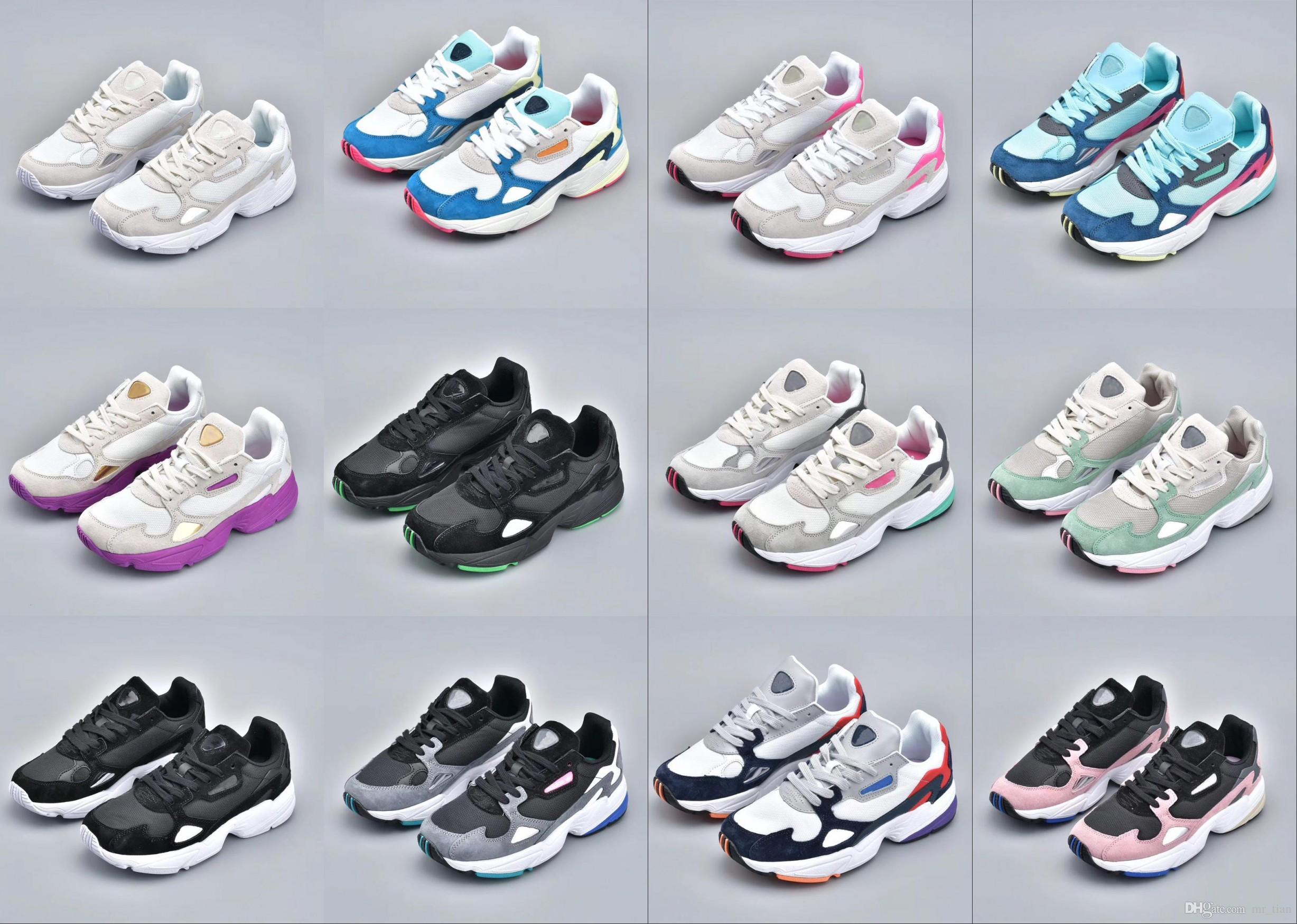79a29f1e0b Compre Adidas Falcon W Running Shoes 2019 NOVO Alta Qualidade Baixo Preço  FALCON W Homens E Mulheres Tênis, Moda Esportiva Casual Sapatos EUA 5 11 De  ...