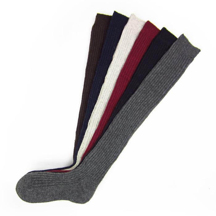 Stati Uniti Fotografia Stock Women Winter Calze calde a maglia Uncinetto sopra il ginocchio Calze morbide in cotone Calze spesse Calzata in tinta unita