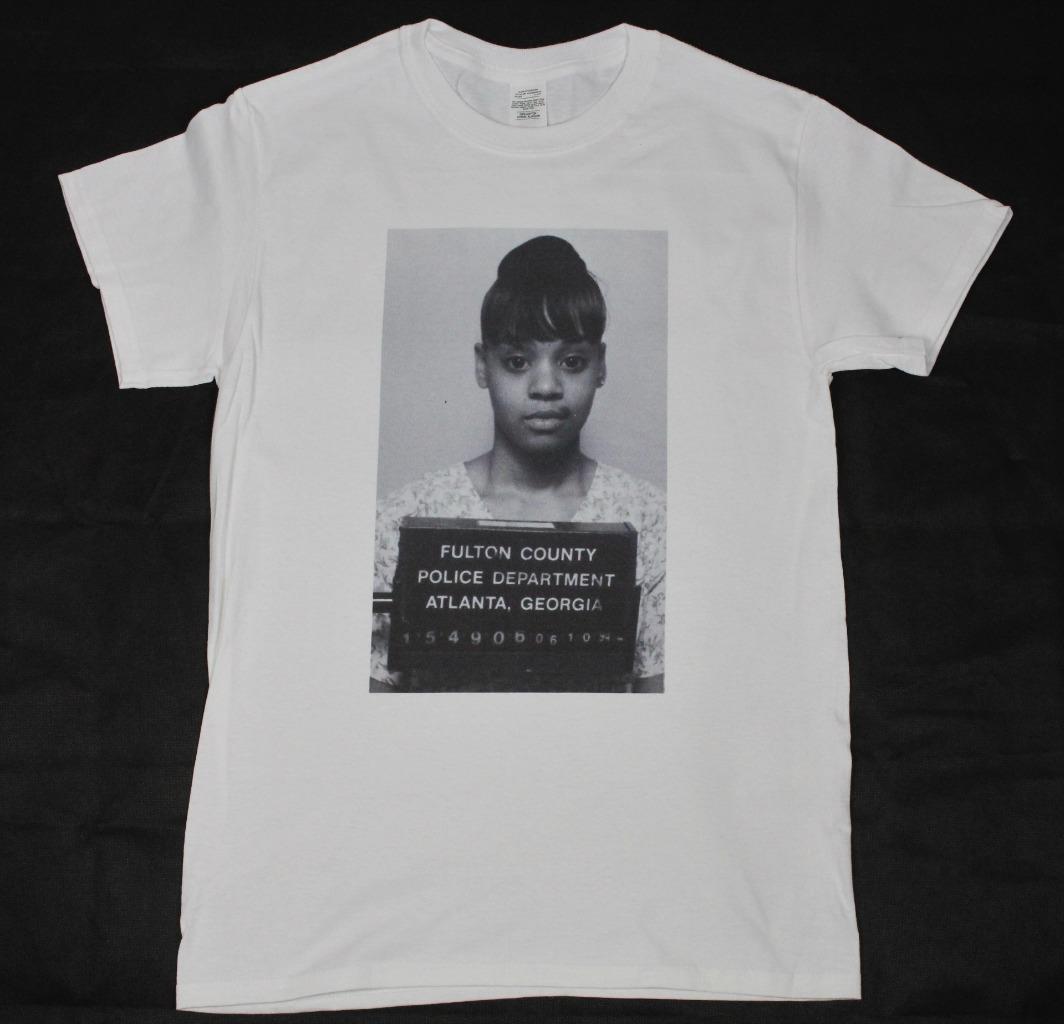 Lisa Left Eye Lopes mugshot White T-Shirt S-3XL TLC r&b hip hop rap scrubs  size discout hot new tshirt top free shipping t-shirt