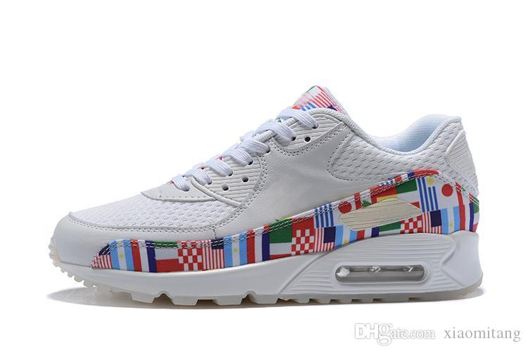 competitive price 3cda6 bee36 Acquista Nike Air Max 90 Airmax 90 2018 NUOVE Scarpe Da Ginnastica Out Of  The International Flag Pack 90 Scarpe Da Uomo E Da Donna Sports Trainer Air  ...