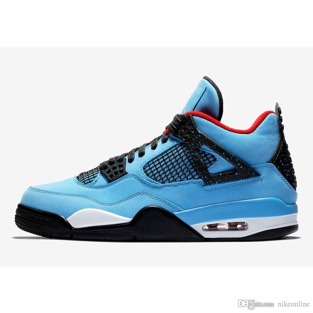 6c5d4725c2b07a Cheap Mens Jumpman 4 IV Basketball Shoes 4s NRG Travis Scott Cactus ...