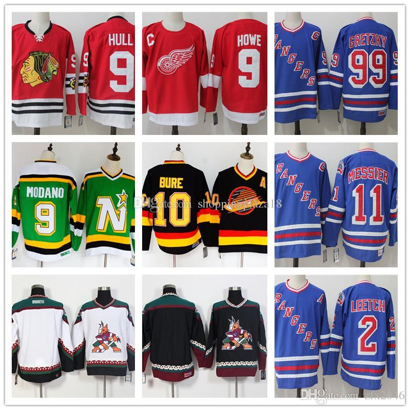 ... Pavel Bure 9 Gordie Howe Bobby Hull Mike Modano Hockey Jersey Fanatics  Branded Black Red Green Throw Premier Breakaway Embroidered Logos Back  Heritage ... b9b365fcc