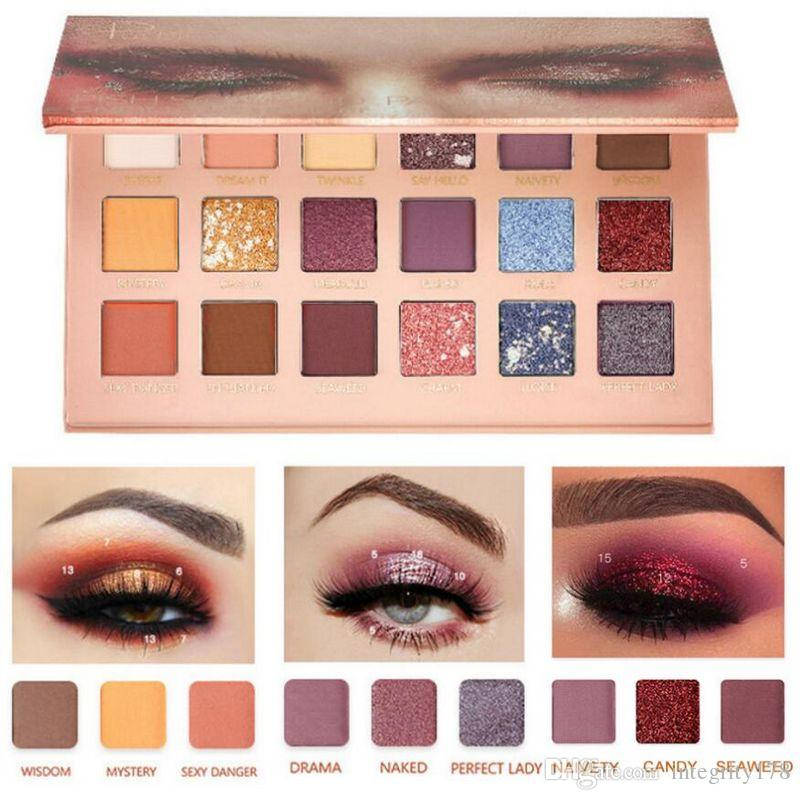 Pudaier 18 Color Makeup Pigmented Eye shadow Palette Colorful Nude Waterproof Metallic Glitter Shimmer Matte Smoky eyeshadow