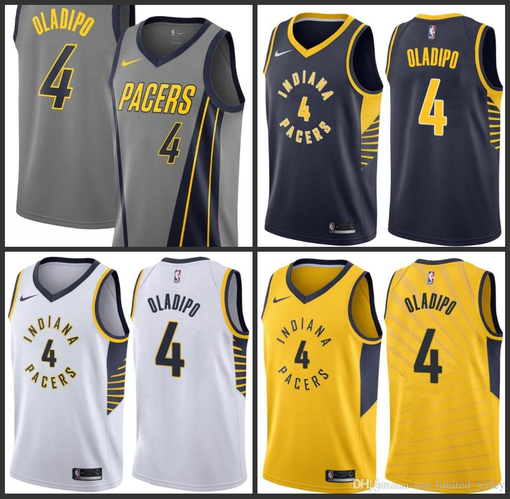 huge selection of ff0ed 5d243 18-19 Season Indiana Men Pacers Jerseys Victor Oladipo Reggie Miller City  Grey Edition Embroidery Jersey Free shipping