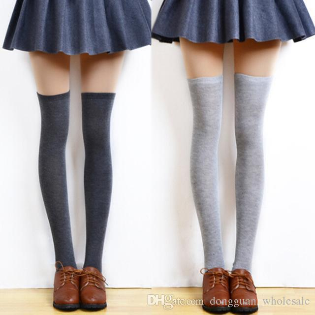 66341faaa9085 2019 Sexy Fashion Women Girl Thigh High Stockings Knee High Socks,Cute Long  Cotton Warm Over The Knee Socks From Tallahassed8, $24.18 | DHgate.Com