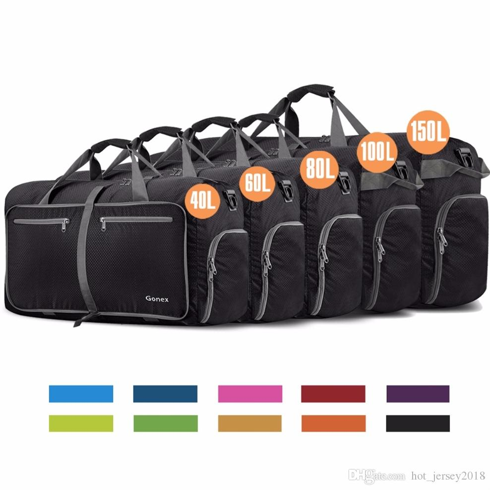 b957bcb41 2019 Gonex 100L Business Men Travel Duffle Bag Packable Luggage Suitcase  Handbag Large Nylon Bags For Gym Vacation Trip Weekeend #266161 From  Hot_jersey2018 ...
