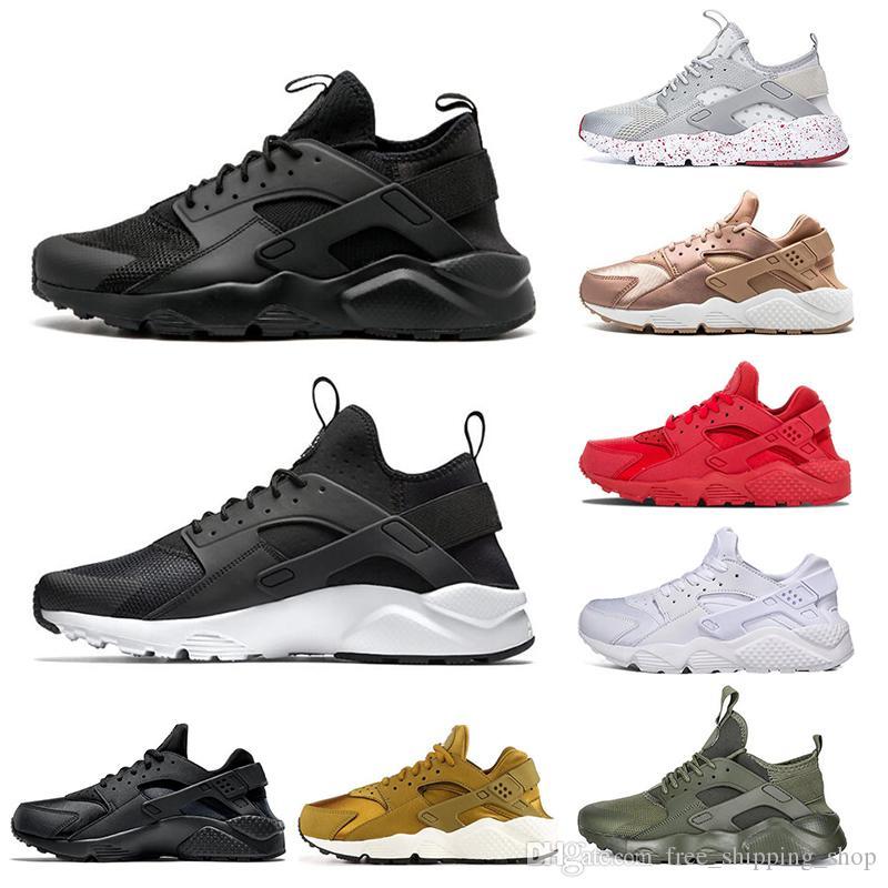 100% authentique fa3d3 81732 nike air Huarache Air Huaraches courir homme femmes Triple noir blanc oreo  rouge gris hurache chaussures de sport chaussures de course chaussures de  ...