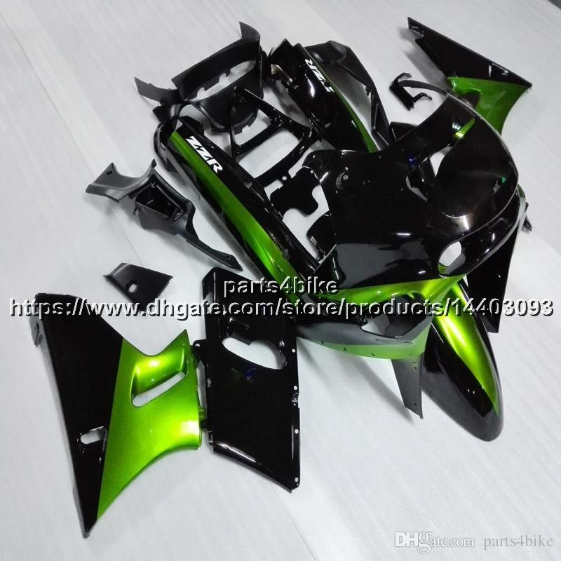 5Gifts Injection Mold Green Black Motorcycle Fairing For Kawasaki