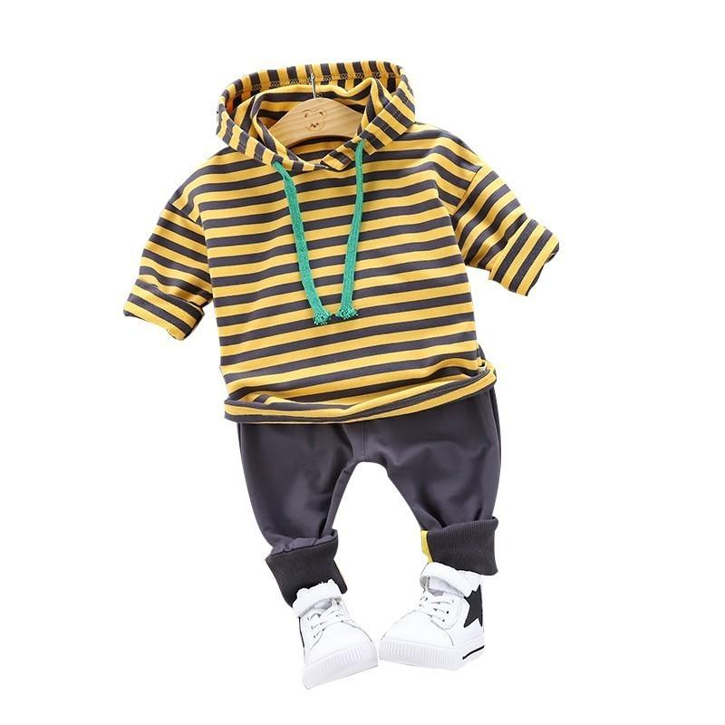 62379b87 2019 2019 Spring Infant Clothing Baby Boys Girl Clothes Suit Sports Striped  Hooded Sweater Pants /Sets Children Toddler Tracksuit From Usefully19, ...