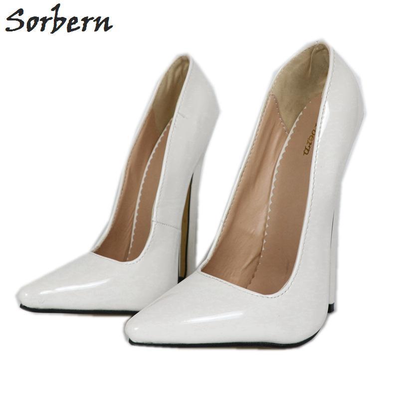 40662ec4af2f39 Acheter Sexy Blanc Femmes Escarpins Fétichisme Chaussures À Talons Hauts  Slip On Spike Haut Pointus Toes Piste Femmes Chaussures Talons Femmes De  $105.81 Du ...
