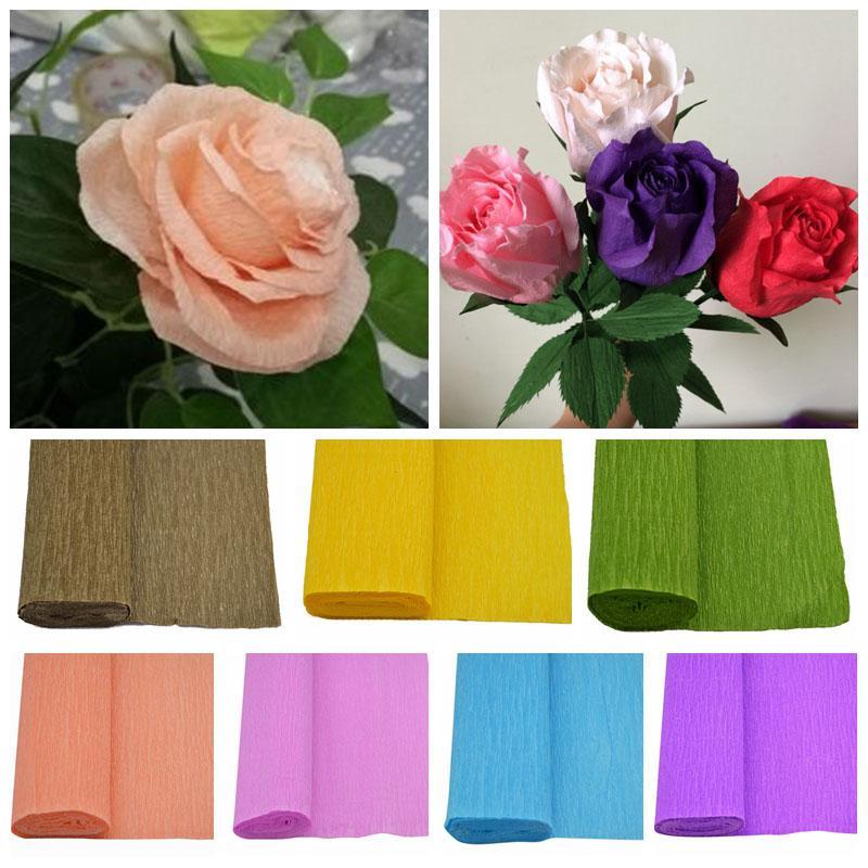 Decor Pack Diy Crinkled Paper Art Craft Flower Making 1p 25 250cm
